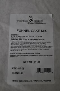 Funnel Cake Mix 50Lb